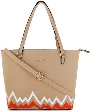 LAVIE Pu Women Shoulder bag - Beige