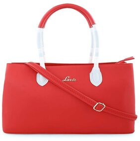 LAVIE Women Faux Leather Handheld Bag - Red