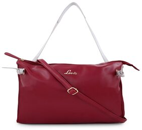 LAVIE Women Leather Handheld Bag - Red