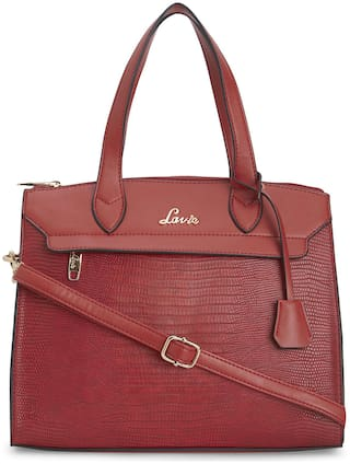 LAVIE Red PU Satchel