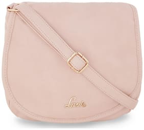 LAVIE Women Solid Leather - Sling Bag Beige