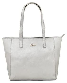 LAVIE Silver Faux Leather Handheld Bag