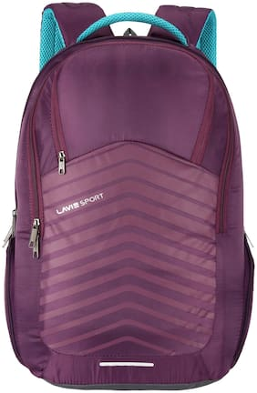 LAVIE SPORT Purple Polyester Laptop Backpack