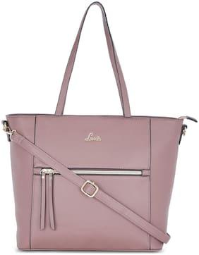 LAVIE Women Textured Pu - Tote Bag Beige