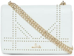 LAVIE White PU Embellished Sling Bag