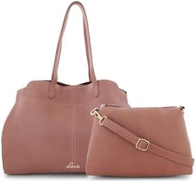 LAVIE Pink Synthetic Satchel
