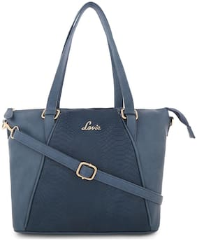 LAVIE Blue PU Handheld Bag
