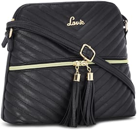 LAVIE Women Solid Synthetic - Sling Bag Black