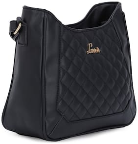 LAVIE Black Synthetic Solid Sling Bag