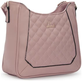 LAVIE Women Solid Synthetic - Sling Bag Pink