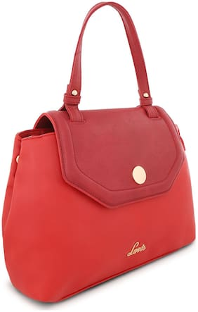 LAVIE Synthetic Women Satchel - Red