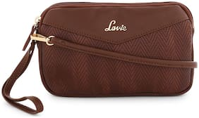 LAVIE Brown PU Printed Sling Bag