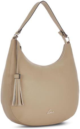 LAVIE Beige Synthetic Handheld Bag