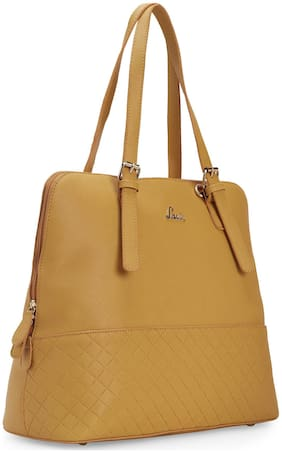 LAVIE Yellow Synthetic Satchel