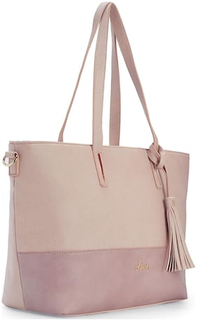 LAVIE Synthetic Women Shoulder bag - Pink