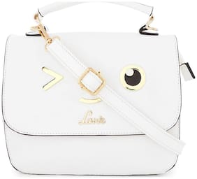 LAVIE White PU Shoulder Bag