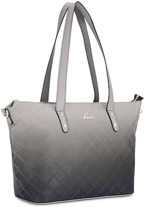 LAVIE Grey Synthetic Shoulder Bag