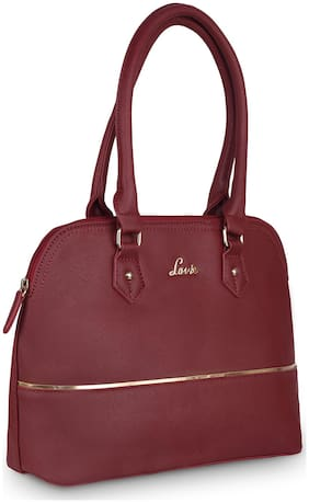 LAVIE Maroon Synthetic Satchel
