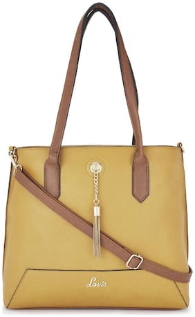 LAVIE Yellow PU Shoulder Bag