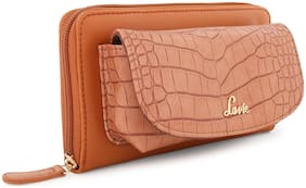 LAVIE Women Tan Synthetic Wallet