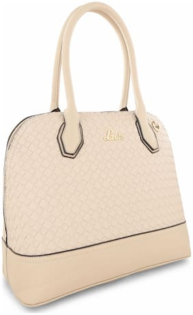 LAVIE Synthetic Women Satchel - Beige