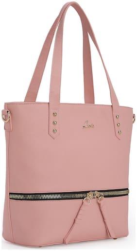 LAVIE Pink Synthetic Shoulder Bag