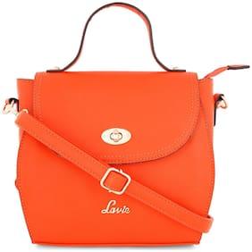 LAVIE Orange PU Shoulder Bag