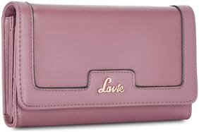 LAVIE Women Purple Synthetic Wallet