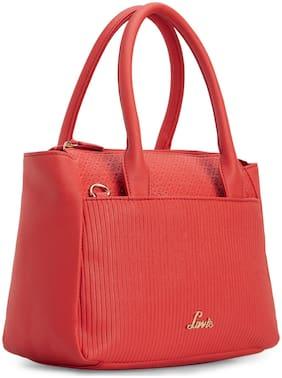 LAVIE Orange Synthetic Handheld Bag