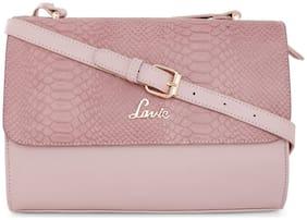 LAVIE Pink PU Solid Sling Bag