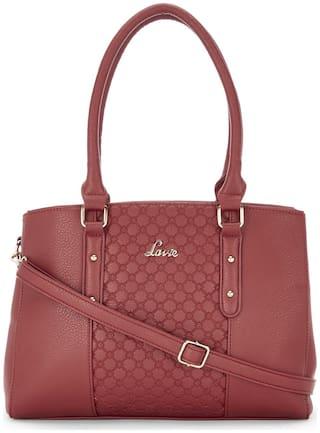 LAVIE Red PU Handheld Bag