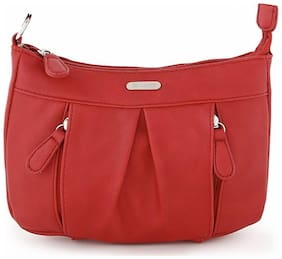 LAVIE Women Solid Pu - Sling Bag Red