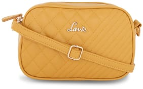 LAVIE Women Solid Leather - Sling Bag Yellow