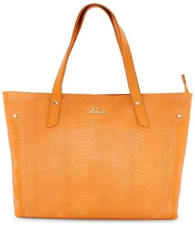 LAVIE Yellow Synthetic Handheld Bag