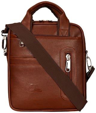Leather World Multipurpose Sling Messenger Cross Body Bag For Men Women