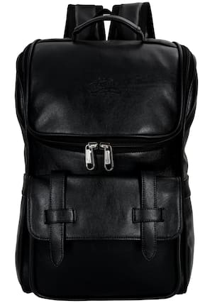 Leather World Waterproof Laptop Backpack