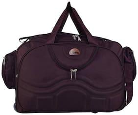 Leather World Nylon Men Duffle bag - Purple