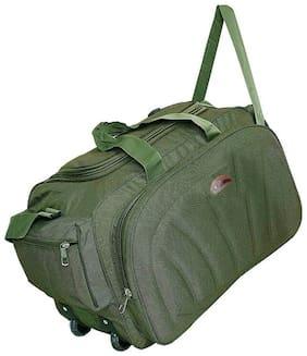 Leather World Nylon Men Duffle bag - Green