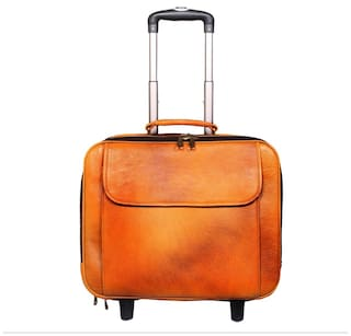 120db7e2a24b Leather World Trendy Rust Mango Genuine Leather Overnight Luggage Bag