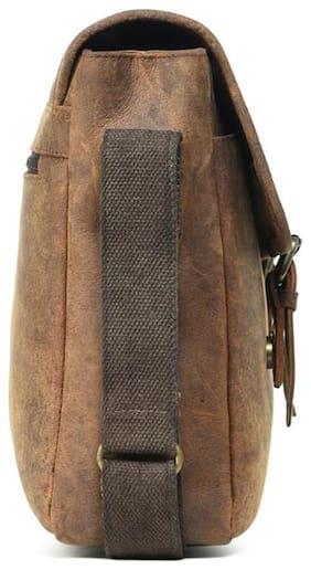 Leather Zentrum Brown Leather Sling bag