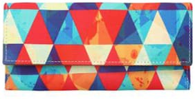 JE Jagjeet Enterprises Women Printed Faux Leather - Clutch Multi