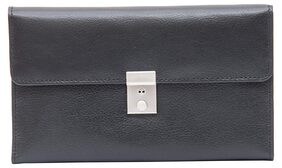 Leatherman Women Leather Vanity Case - Black