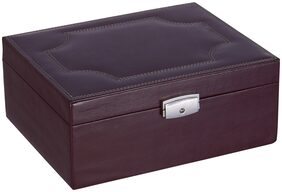 Leatherman Women Leather Vanity Case - Brown
