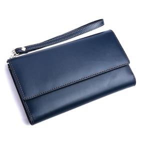 Leatherstile Women Blue PU Wallet