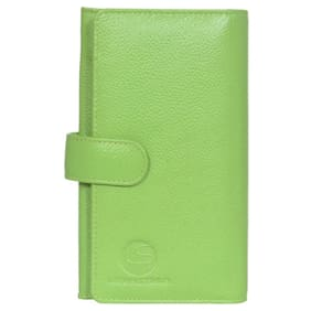 Leatherstile Women Leather Wallet - Green