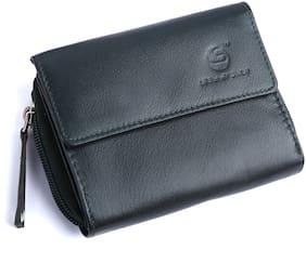 Leatherstile Women Green Leather Wallet