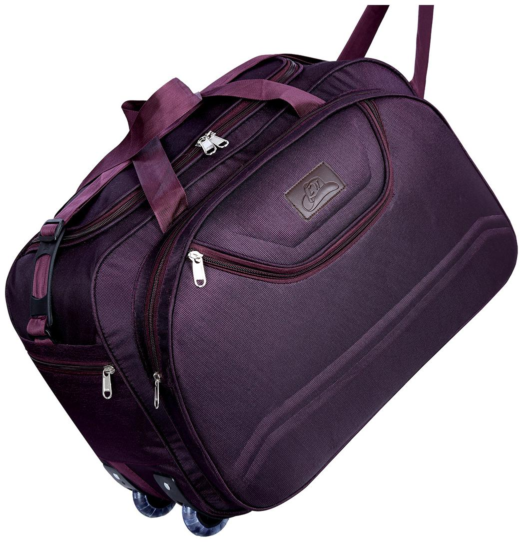 Leatherworld Water Resistant Luggage Travel Duffel Bag with Roller wheels Duffel Bag by Leather World