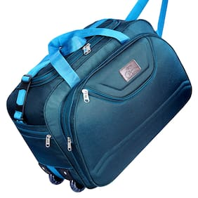 Leatherworld Water-Resistant Luggage Travel Duffel Bag with Roller wheels Duffel  Bag