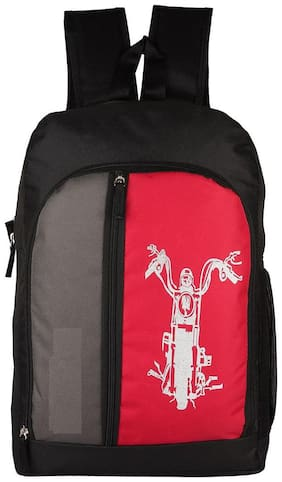 LeeRooy Red Canvas Backpack