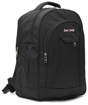 LeeRooy Fabric 25 L Black Laptop Backpack For Unisex